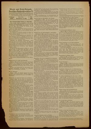 Deutsches Nachrichtenbüro vom 14.05.1938