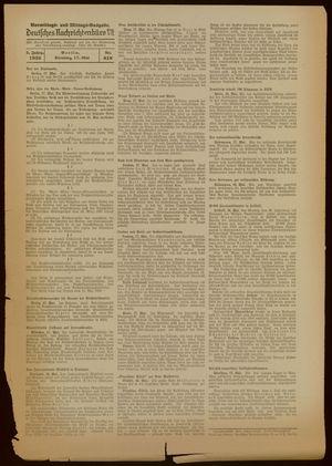 Deutsches Nachrichtenbüro vom 17.05.1938