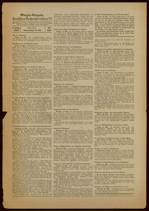 Deutsches Nachrichtenbüro vom 19.05.1938
