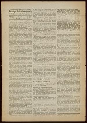 Deutsches Nachrichtenbüro vom 20.05.1938