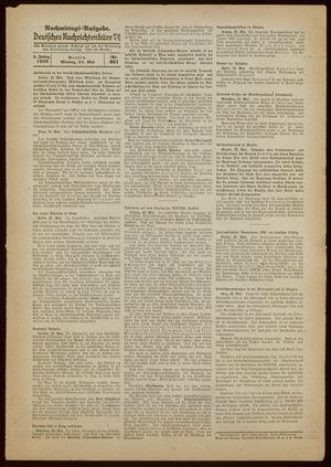 Deutsches Nachrichtenbüro vom 23.05.1938