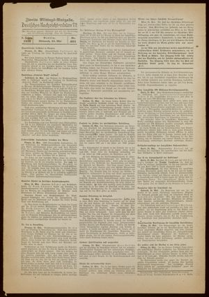 Deutsches Nachrichtenbüro vom 25.05.1938