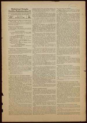 Deutsches Nachrichtenbüro vom 31.05.1938