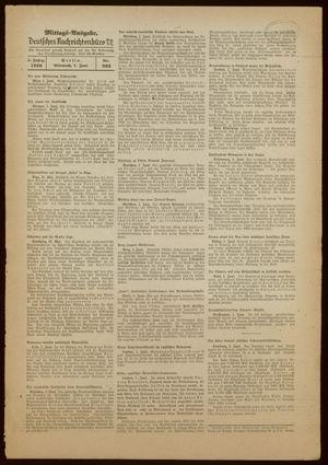 Deutsches Nachrichtenbüro vom 01.06.1938