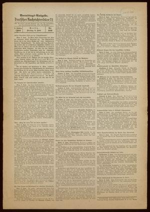 Deutsches Nachrichtenbüro vom 03.06.1938