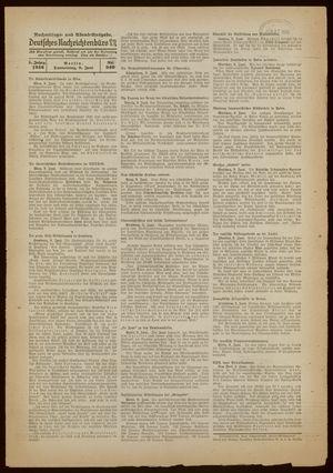 Deutsches Nachrichtenbüro vom 09.06.1938