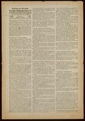 Deutsches Nachrichtenbüro vom 10.06.1938