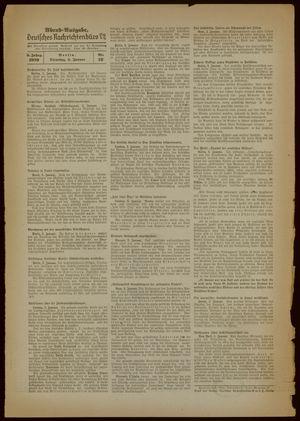 Deutsches Nachrichtenbüro vom 03.01.1939