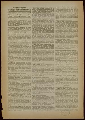 Deutsches Nachrichtenbüro on Jan 12, 1939