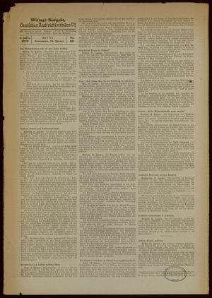 Deutsches Nachrichtenbüro vom 14.01.1939