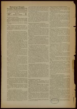 Deutsches Nachrichtenbüro on Jan 17, 1939
