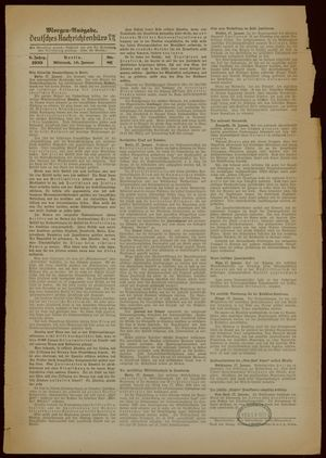 Deutsches Nachrichtenbüro vom 18.01.1939