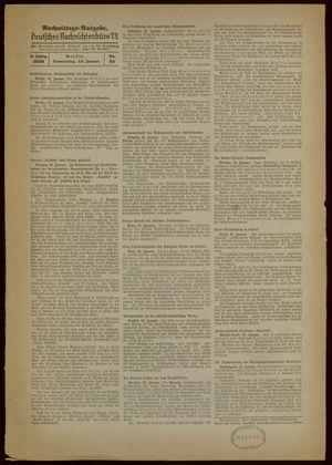 Deutsches Nachrichtenbüro vom 19.01.1939