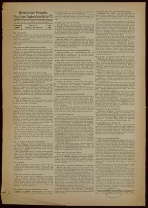 Deutsches Nachrichtenbüro vom 20.01.1939