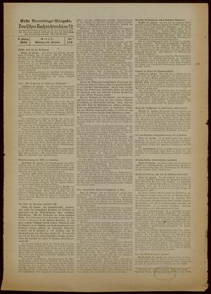 Deutsches Nachrichtenbüro vom 23.01.1939