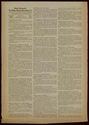 Deutsches Nachrichtenbüro vom 25.01.1939