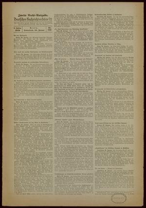 Deutsches Nachrichtenbüro vom 28.01.1939