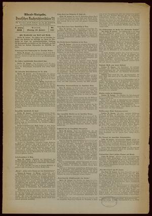 Deutsches Nachrichtenbüro vom 30.01.1939