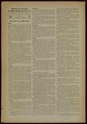 Deutsches Nachrichtenbüro vom 31.01.1939