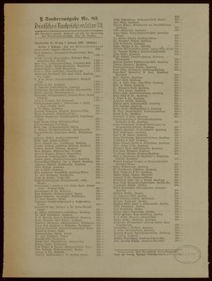 Deutsches Nachrichtenbüro vom 01.02.1939