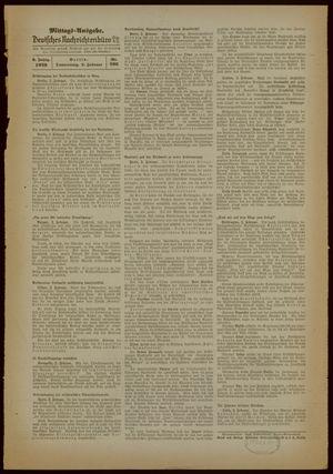 Deutsches Nachrichtenbüro vom 02.02.1939