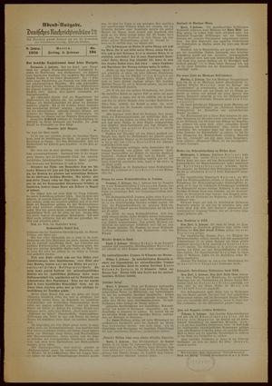 Deutsches Nachrichtenbüro on Feb 3, 1939