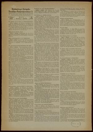 Deutsches Nachrichtenbüro vom 07.02.1939
