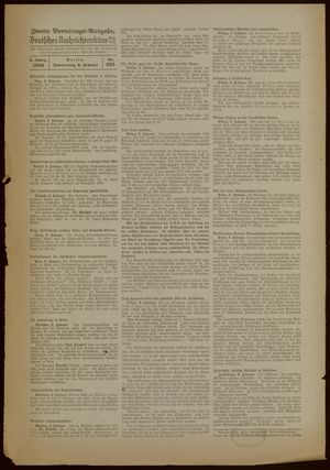 Deutsches Nachrichtenbüro vom 09.02.1939