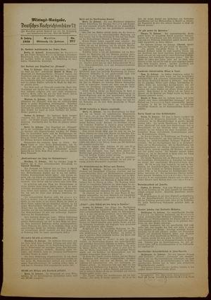 Deutsches Nachrichtenbüro vom 15.02.1939