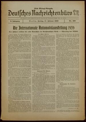 Deutsches Nachrichtenbüro vom 17.02.1939