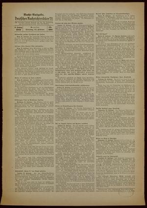 Deutsches Nachrichtenbüro vom 21.02.1939
