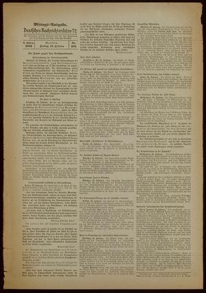 Deutsches Nachrichtenbüro on Feb 24, 1939