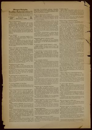Deutsches Nachrichtenbüro vom 09.03.1939