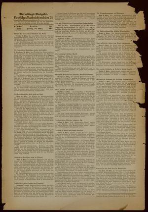 Deutsches Nachrichtenbüro vom 10.03.1939