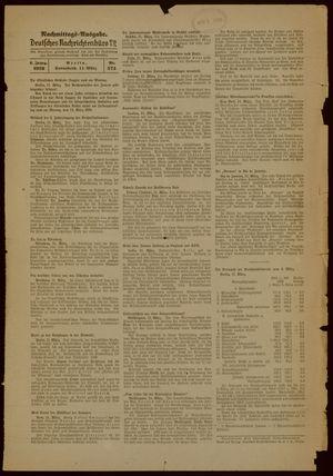 Deutsches Nachrichtenbüro vom 11.03.1939