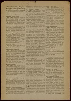 Deutsches Nachrichtenbüro vom 14.03.1939