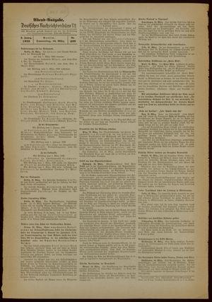 Deutsches Nachrichtenbüro vom 16.03.1939
