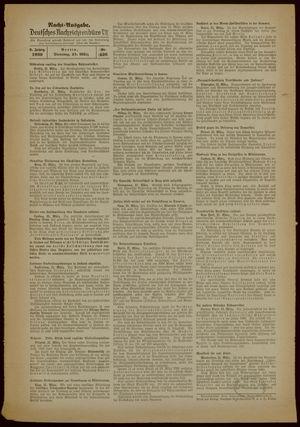 Deutsches Nachrichtenbüro vom 21.03.1939