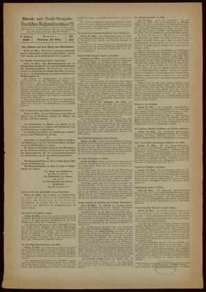 Deutsches Nachrichtenbüro vom 22.03.1939