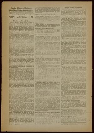 Deutsches Nachrichtenbüro vom 27.03.1939