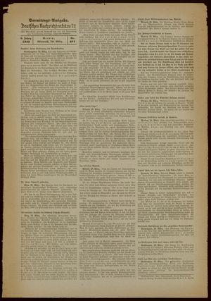 Deutsches Nachrichtenbüro vom 29.03.1939
