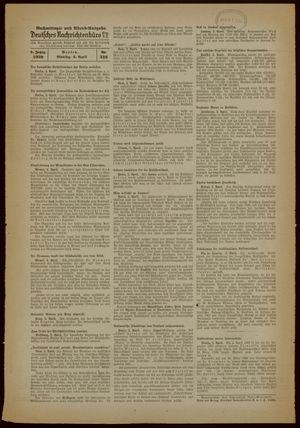 Deutsches Nachrichtenbüro vom 03.04.1939