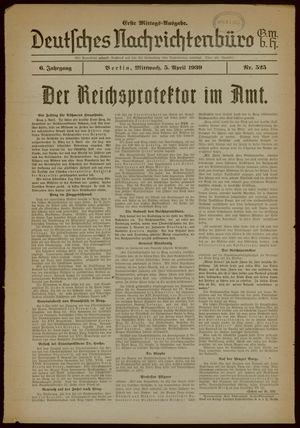 Deutsches Nachrichtenbüro vom 05.04.1939