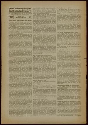 Deutsches Nachrichtenbüro vom 11.04.1939