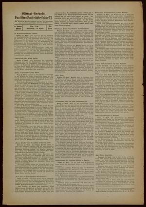 Deutsches Nachrichtenbüro on Apr 12, 1939