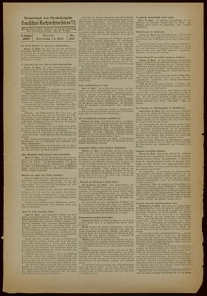 Deutsches Nachrichtenbüro vom 13.04.1939