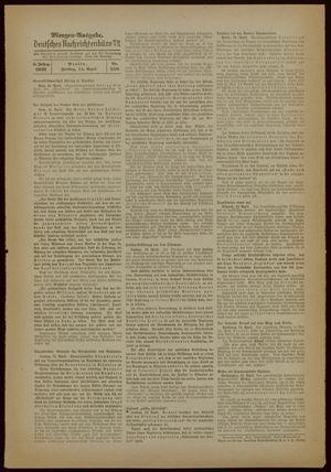 Deutsches Nachrichtenbüro vom 14.04.1939