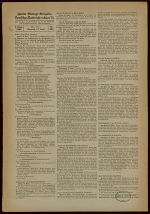 Deutsches Nachrichtenbüro on Apr 19, 1939
