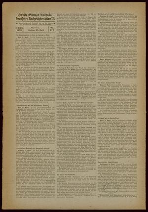 Deutsches Nachrichtenbüro vom 21.04.1939