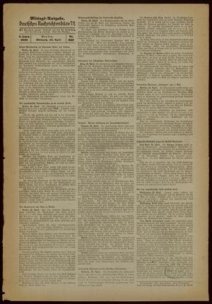 Deutsches Nachrichtenbüro vom 26.04.1939